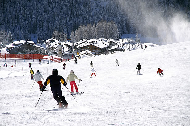 Ski slopes Col Pradat