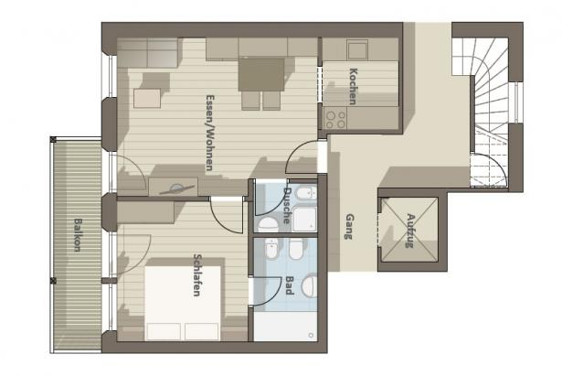 Plan apartment 104