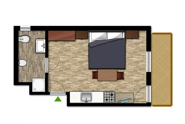 Plan apartment 154