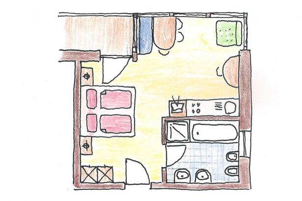 Plan apartment 156